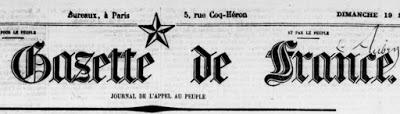 Or du Rhin 1869 à Munich. Les médisances de la Gazette de France.