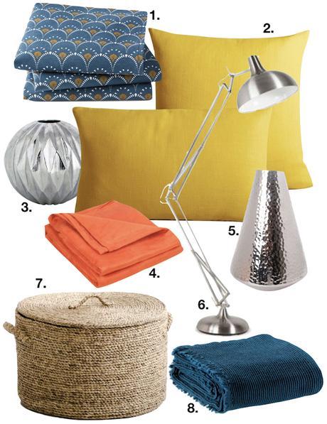 appartement minimaliste afro ethnique shopping liste plaid panier coussin lampe vase clemaroundthecorner blog déco