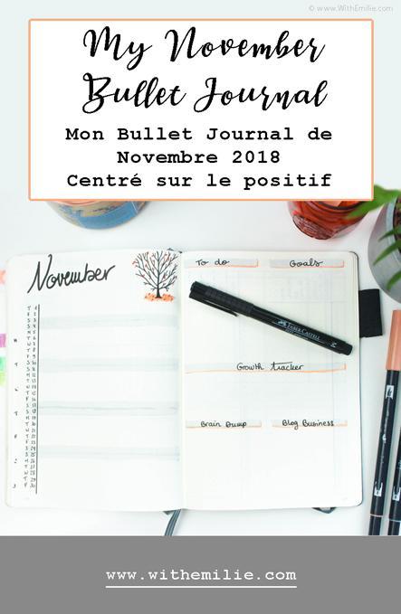 Mon Bullet Journal de Novembre 2018   Centré sur le positif