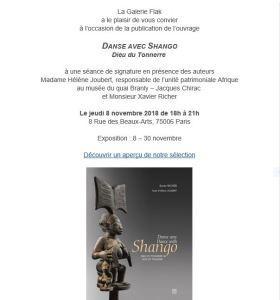 galerie Flak   » Shango ,Yoruba  »  « Danse avec Shango » (Dieu du Tonnerre) 8/30 Novembre 2018