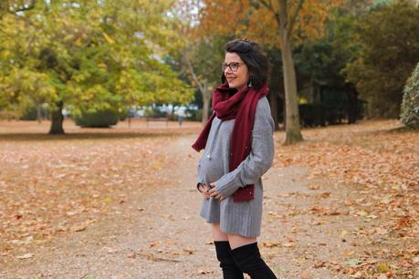 Robe-pull, cuissardes et ... bola de grossesse