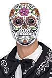 Smiffys 45218 Déguisement Homme Masque de Señor Squelette, Blanc, Taille Unique