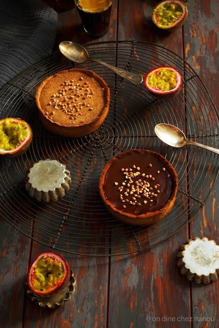 Tartelettes ganache chocolat pâte au sarrasin