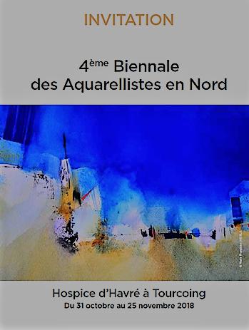 4ème biennale des aquarellistes en Nord – le vernissage