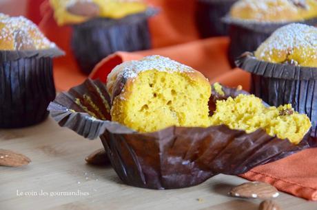 Les pumpkin muffin à l'amande, des gâteaux à la courge