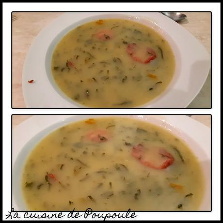 Caldo Verde (bouillon vert soupe Portugaise)