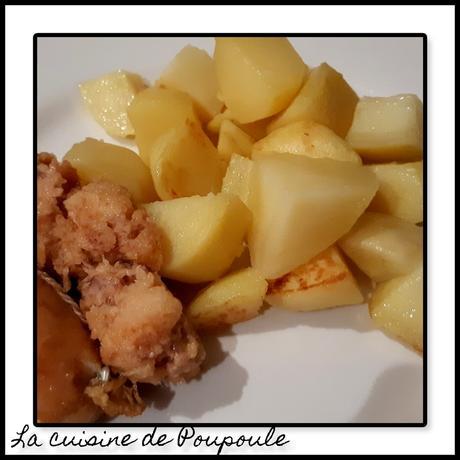 Pommes de terre à la saucisse Portugaise (Alheira  de mirandela)