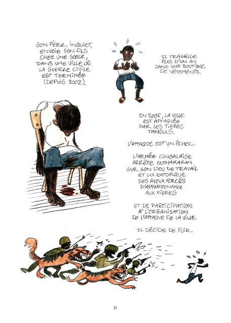 Droit d'asile Bd aux éditions des ronds dans l'O Page 33