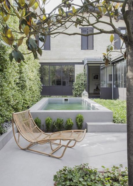 bohème scandinave piscine béton terrasse verrière jardin blog déco clem around the corner