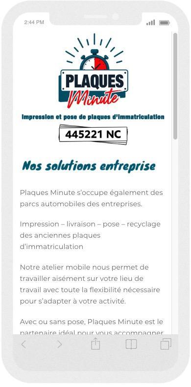 [Réalisation] Plaques Minute NC ou la réactivité d'internet au service d'un marché éphémère