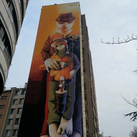 Street Art Paris : INTI 129 avenue d'Italie 75013