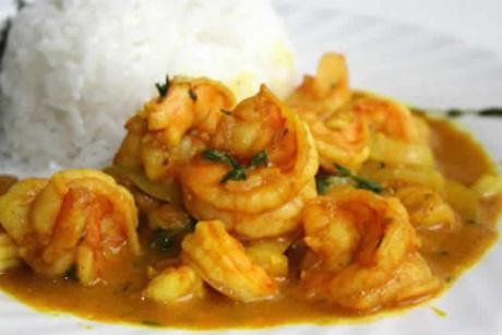 Recette crevettes au curry et lait de coco weight watchers