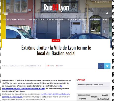 une verrue fasciste de moins : Le bastion « social » de Lyon ferme. JOIE.