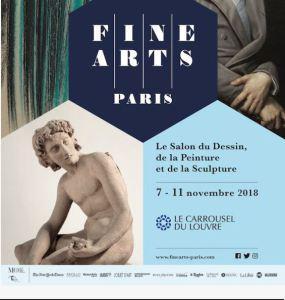 Le Salon du Dessin , de la Peinture et de la Sculpture FINE ARTS Paris 7/11 Novembre 2018