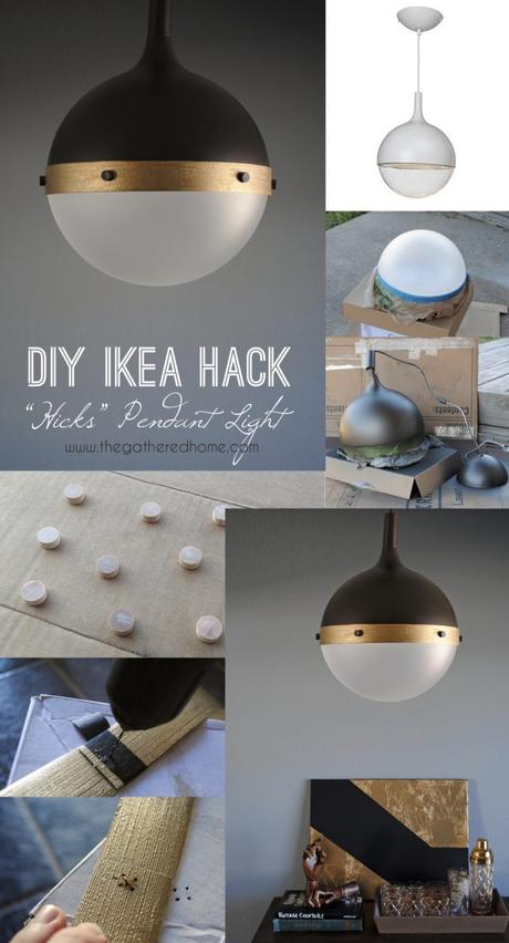 IKEA hack lampe DIY suspension - blog déco - Clem Around The Corner