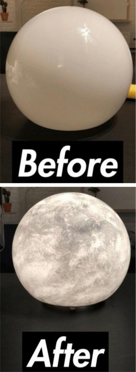 ikea hack lampe diy fado lune chevet - blog déco - Clem around the corner