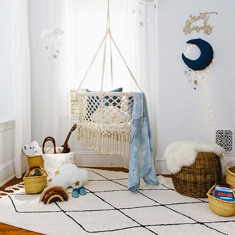 déco chambre d'enfant tapis berbère