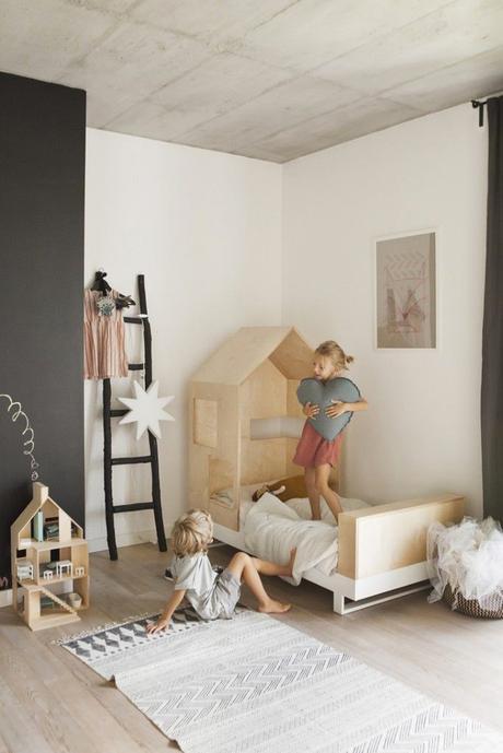 déco chambre d'enfant lit cabane