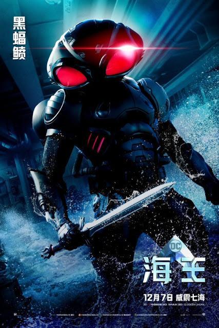 Nouvelles affiches personnages internationales pour Aquaman de James Wan