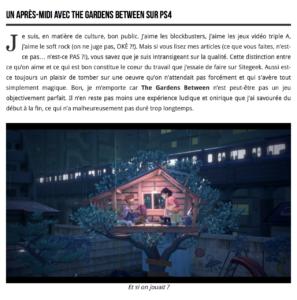 The Gardens Between – PS4 – Un puzzle-game d'une riche simplicité