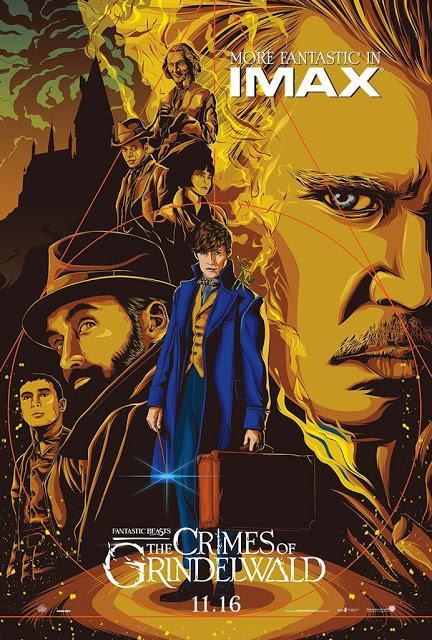 Affiche IMAX pour Les Animaux Fantastiques : Les Crimes de Grindelwald signé David Yates