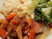 Échine porc confite, panais carottes risotto cook expert