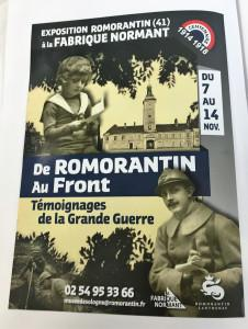 11 Novembre 2018     » de Romorantin au Front  » Témoignages de la Grande Guerre »