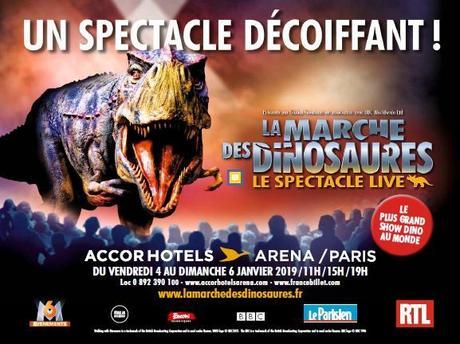 La marche des dinosaures – Le spectacle fera trembler l'AccorHotels Arena Paris