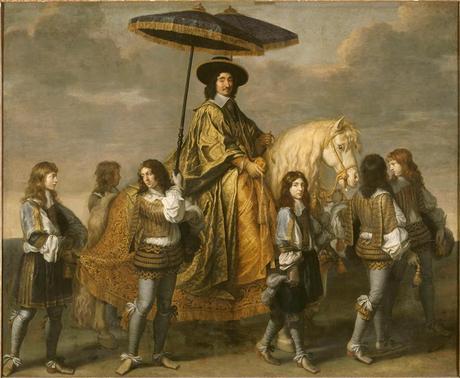 Peinture - Le Sultan et le Chevalier, une affaire de parasol commune à Eugène Delacroix (1798-1859) et Charles Le Brun (1619-1690)