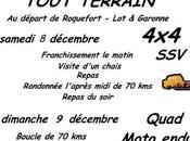 Rando 4X4, quad, moto Téléthon Roquefort (47), décembre 2018