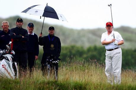 I'm golfing in the rain