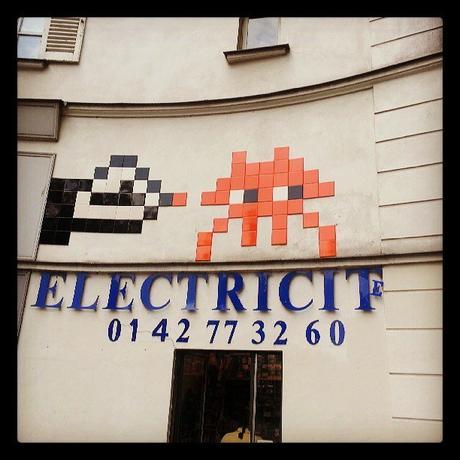 Paris Street Art : Invader Boulevard Beaumarchais, 75003 Paris