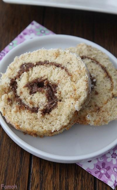 Gâteau roulé choco-praliné