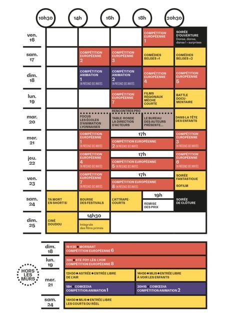 Festival du court au Zola du 16 au 25 novembre 2018