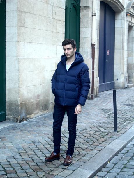 blog_mode_homme_style_parisien_bordeaux_instagrammeur_celebre_elegant_uniqlo_heattech_comment_habiller_chaudement_hiver_pul_col_roule_bonnet_vert_church-s_leyton_pantalon_velours_seamless_doudoune_