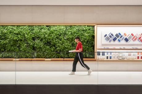 Comme tous les Apple Store, Apple Champs-Élysées est alimenté à 100 % par des énergies renouvelables.
