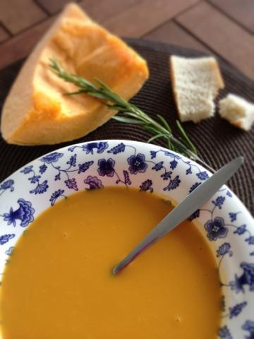 velouté de giraumon, sweet kwisine, courge, giraumon ,soupe, recette, cuisine antillaise