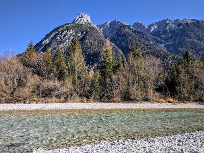 Belles promendades bavaroises : le long de l'Isar entre Mittenwald et Scharnitz