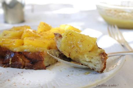 Pain perdu à l'ananas