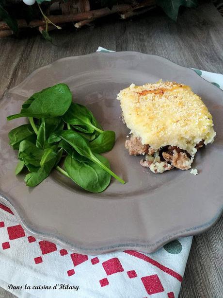 Parmentier de panais et céleri / Parsnips and celery shepherd's pie