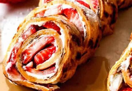 Recette gâteau roulé à la fraise et fromage à la crème ww
