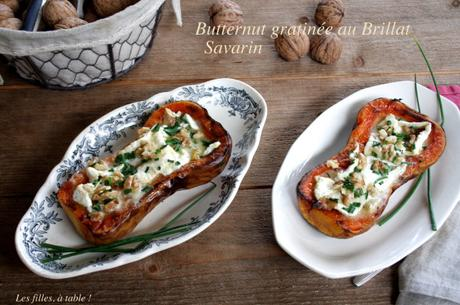 Courge butternut gratinée au Brillat-savarin
