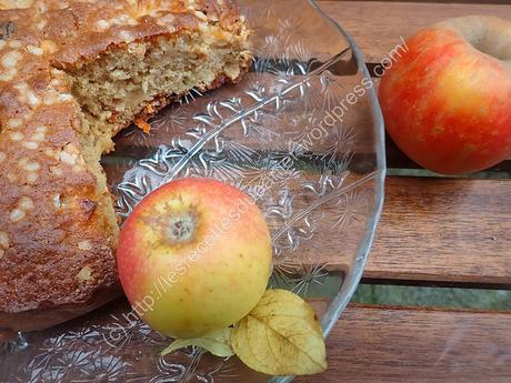 Gâteau aux Pommes, Noix de Cajou et Baies de Goji / Apple, Cashew Nuts and Goji Berries Cake