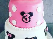 Gâteau Minnie Rose blanc