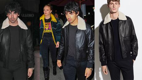 STYLE : Joe Jonas in leather jacket