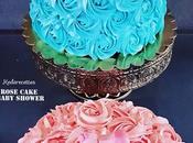 Rose Cake rose bleu Baby Shower