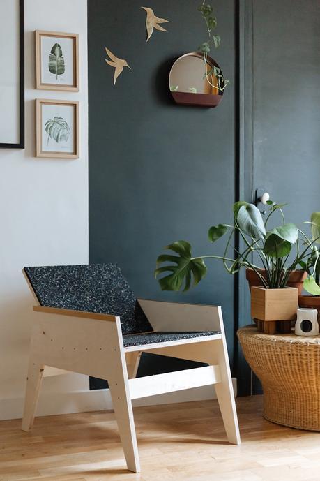 Fauteuil Design En Bois Et Laiton à Voir