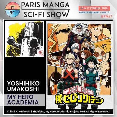 Le character designer Yoshihiko UMAKOSHI (My Hero Academia, Berserk) invité de Paris Manga & Sci-Fi Show 2019