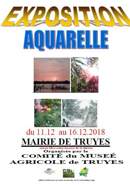 Expositions d'aquarelle en décembre : Vincennes  + St-Prix + Truyes + Riantec