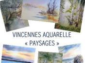 Expositions d'aquarelle décembre Vincennes St-Prix Truyes Riantec